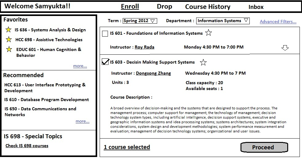 student registration system project